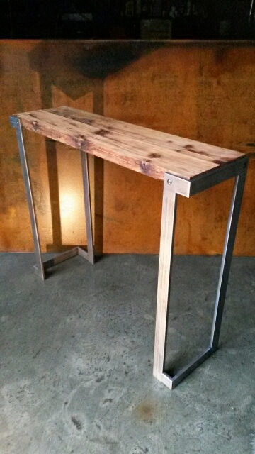 steel and reclaimed fir