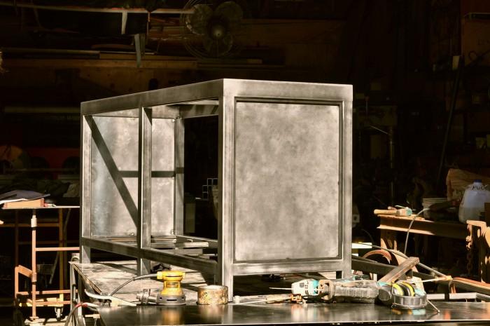 fabulous steel cabinet counter