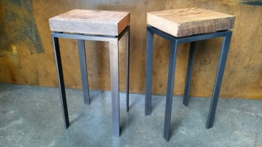 steel and fir tables